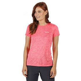 Regatta Fingal V T-Shirt Women neon pink marl/plain